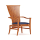 Wooden Chair with Blue Seat