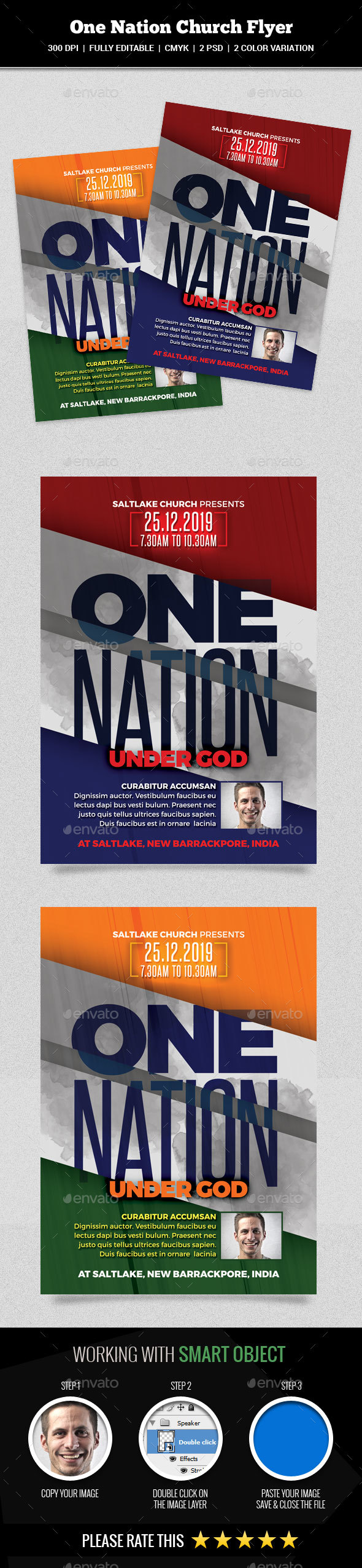 GraphicRiver One Nation Church Flyer 20463012