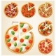 Pizza Top View Set. Italian Pizza with Slices - GraphicRiver Item for Sale