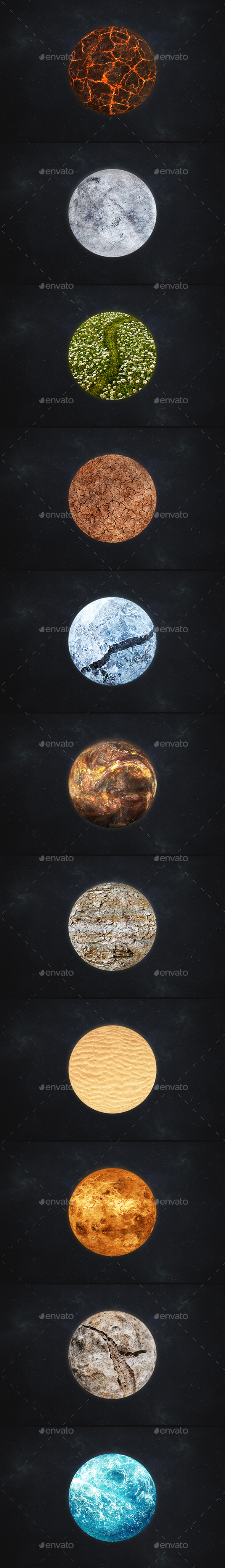 Planet Material - Abstract Illustrations