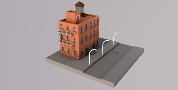 New York Style Building - 3DOcean Item for Sale