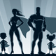 Superhero Family Silhouettes - GraphicRiver Item for Sale