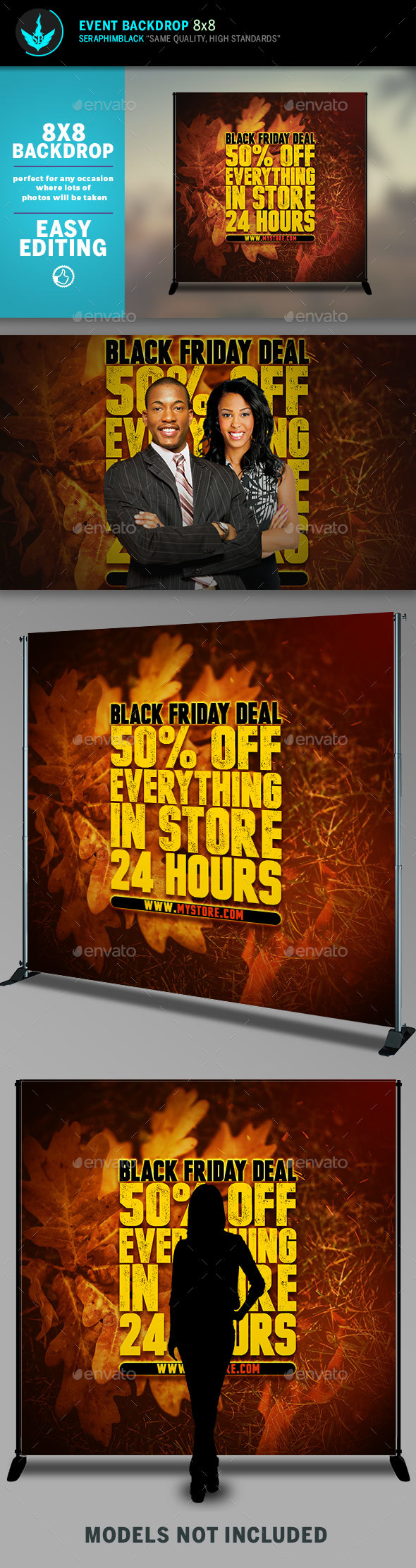 GraphicRiver Fall Sale 8x8 Event Backdrop Template 20463281