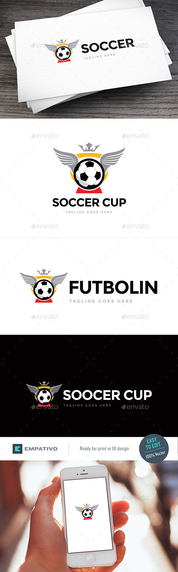 Soccer Cup Logo Template - Objects Logo Templates