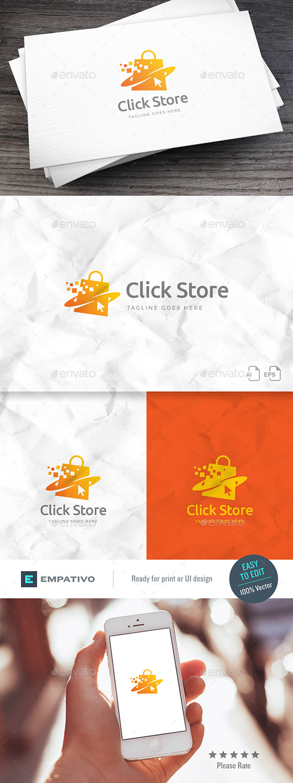 Click Store Logo Template - Objects Logo Templates