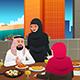 Muslim Family Eating at Home