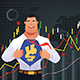 Superhero Businessman in Finance Concept
