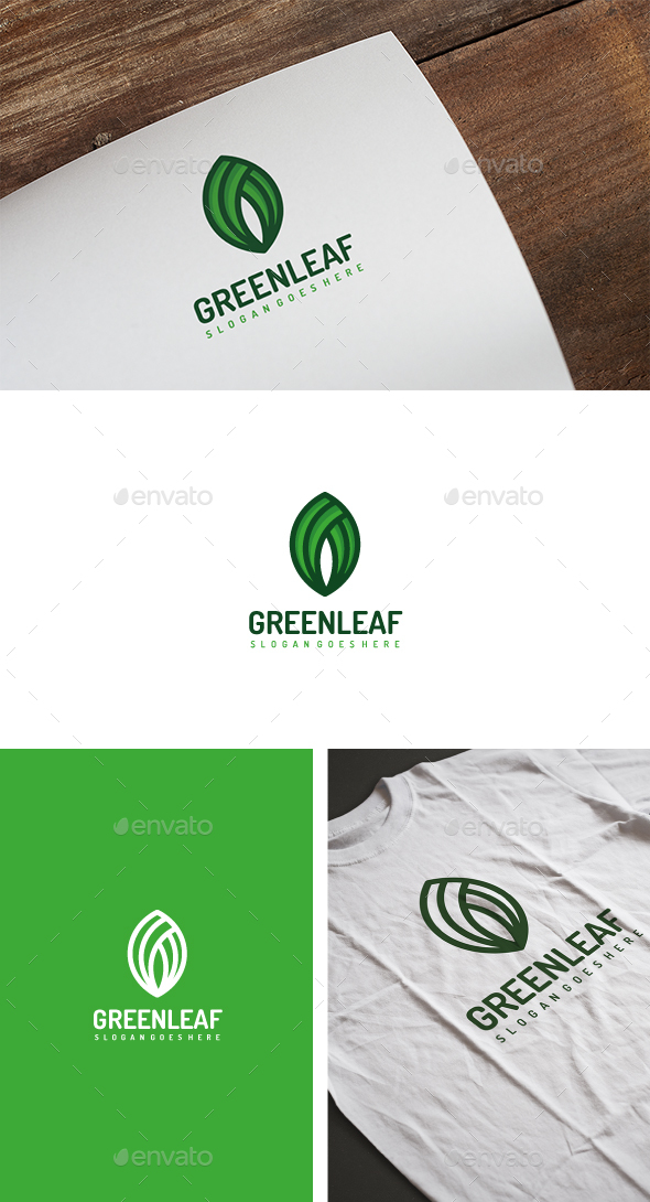 GraphicRiver Green Leaf Logo 20463910