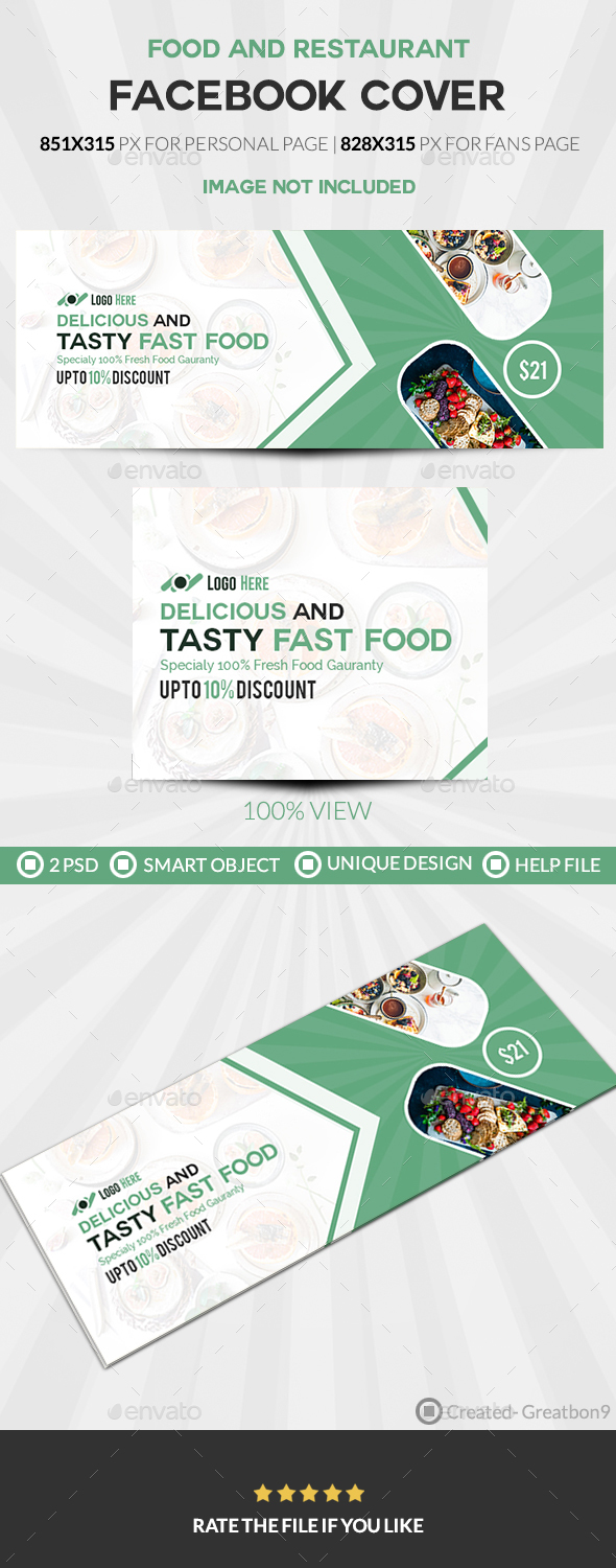 GraphicRiver Food & Restaurant Facebook Cover 20464084