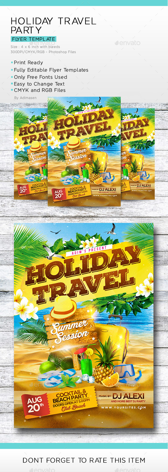 Holiday Travel Party - Events Flyers
