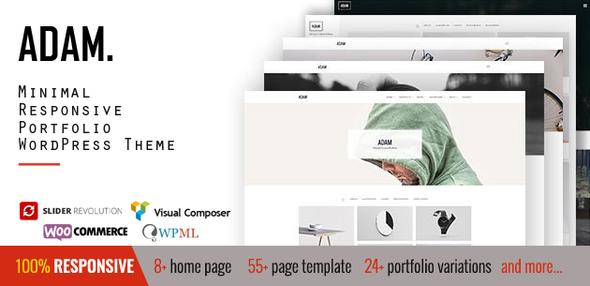 ADAM - Minimal Responsive Portfolio WordPress Theme