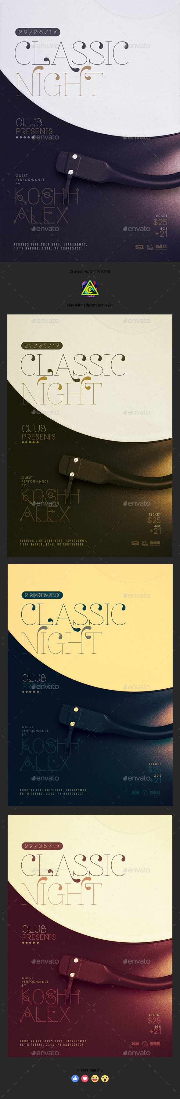Classic Night Poster - Clubs & Parties Events