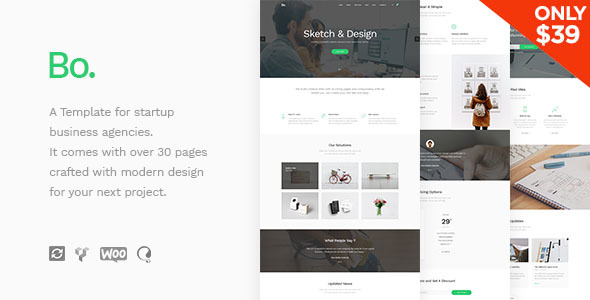 BoTheme - Startup Business WordPress Theme