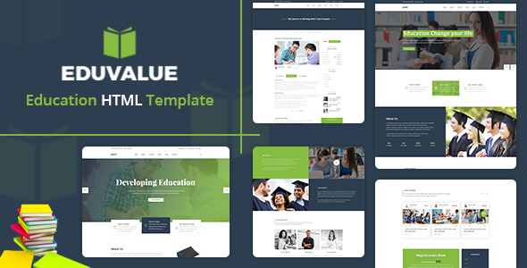 Eduvalue  - Education HTML Template - Nonprofit Site Templates