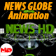 News Globe Futuristic Animation - 3DOcean Item for Sale