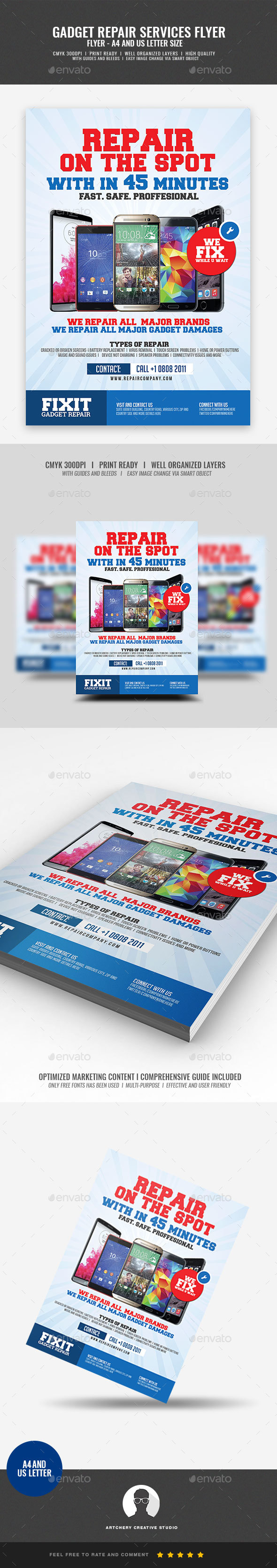 GraphicRiver Phone Repair Flyer 20464566
