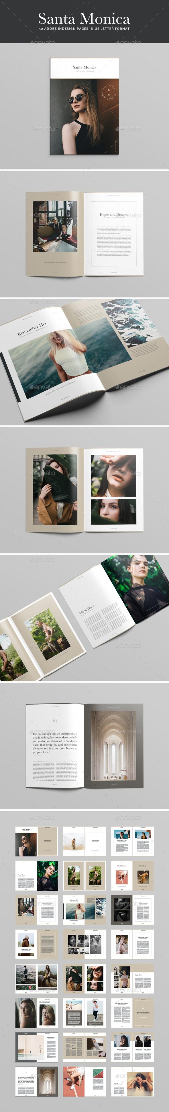 Santa Monica Magazine Template - Magazines Print Templates
