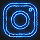 Blue Electric Instagram Icon