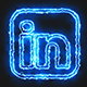 Blue Electric Linkedin Icon - VideoHive Item for Sale