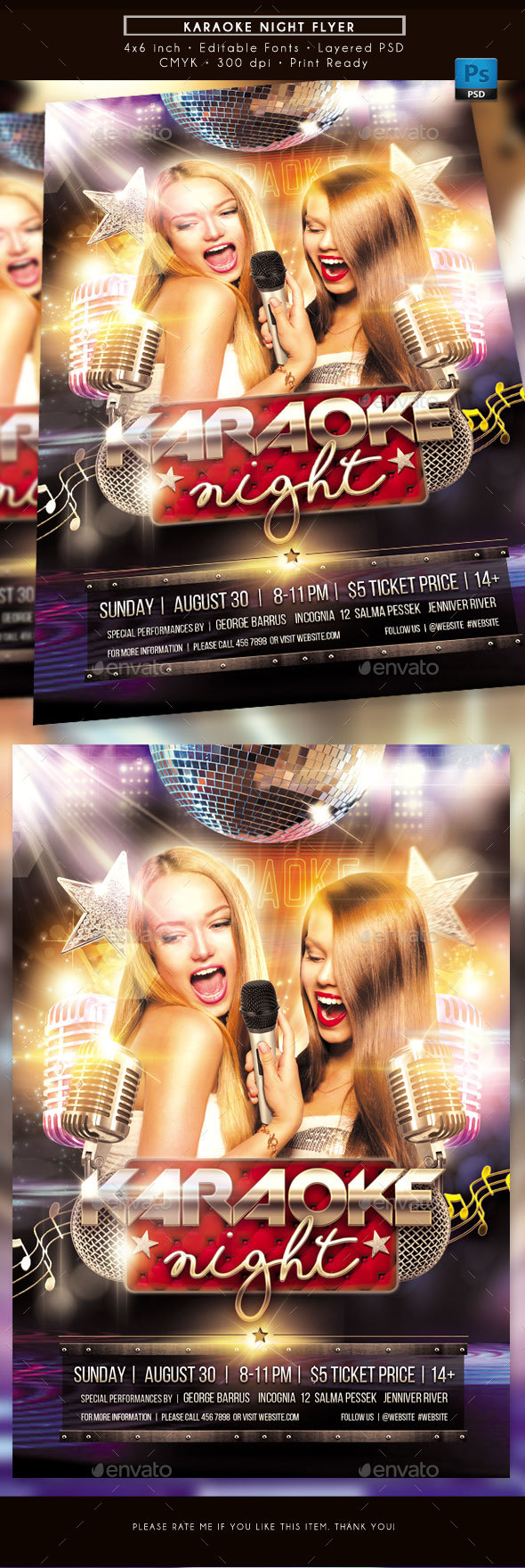 GraphicRiver Karaoke Night Flyer 20464767