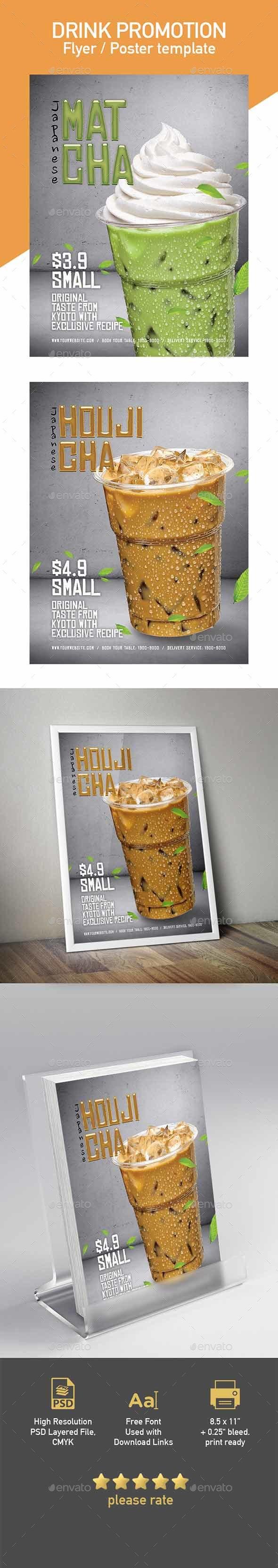 Matcha & Houjicha Flyer / Poster Template - Flyers Print Templates