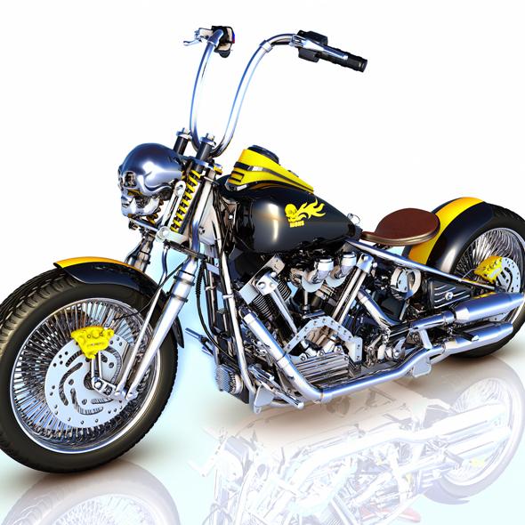 3DOcean Moto Chopper 20464809