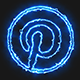 Blue Electric Pinterest Icon