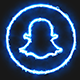 Blue Electric Snapchat Icon