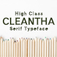 Cleantha Serif Font Family Pack