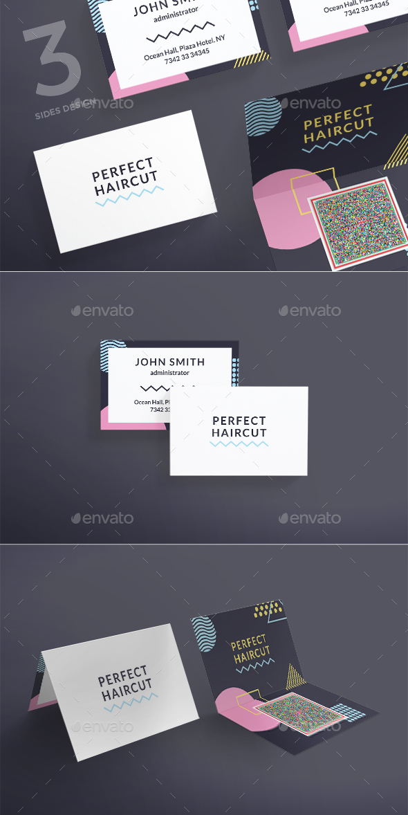 Perfect Haircut Business Card - Business Cards Print Templates
