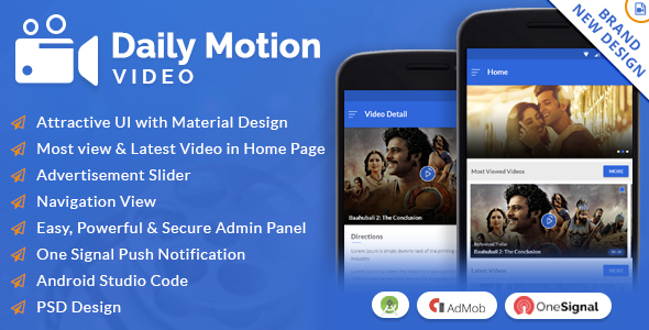 Daily Motion Video App with Material Design - CodeCanyon Item for Sale