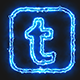 Blue Electric Tumblr Icon