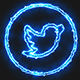 Blue Electric Twitter Icon