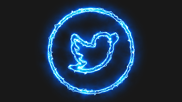 Blue Electric Twitter Icon by Pixinnova | VideoHive