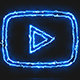 Blue Electric Youtube Video Icon