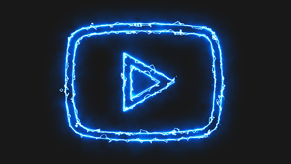 Blue Electric Youtube Video Icon by Pixinnova | VideoHive