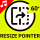 Resize Pointer Tool - Line Icons - VideoHive Item for Sale