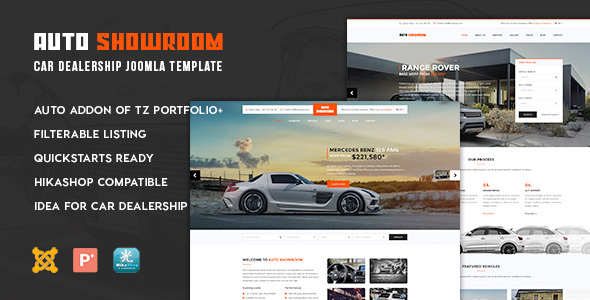 Auto Showroom - Car Dealership Joomla Template - Business Corporate