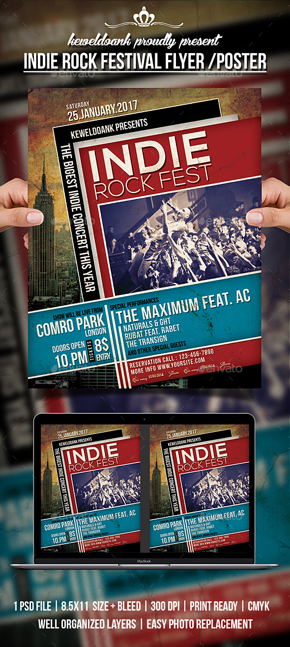 Indie Rock Festival / Poster - Events Flyers