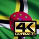 Dominica Flag 4K