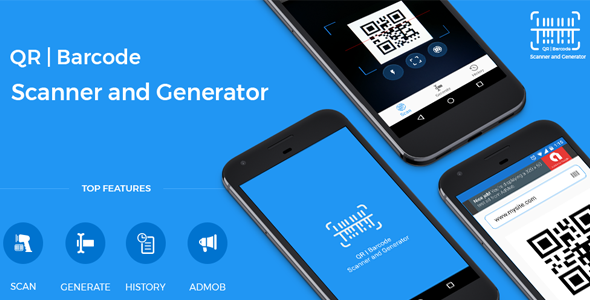 QR code and Barcode scanner and generator for Android with AdMob - CodeCanyon Item for Sale