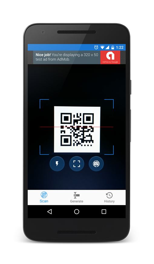 Qr Code And Barcode Scanner And Generator For Android With