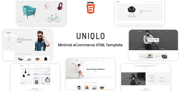 Uniqlo - Minimalist eCommerce Template - Shopping Retail