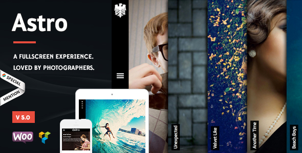 Astro - Photography WordPress Theme - Photography Creative