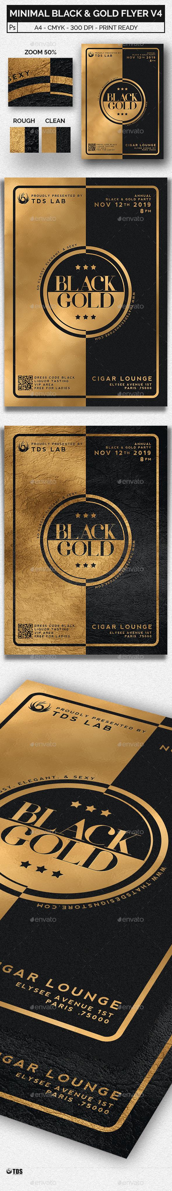 GraphicRiver Minimal Black and Gold Flyer Template V4 20465471