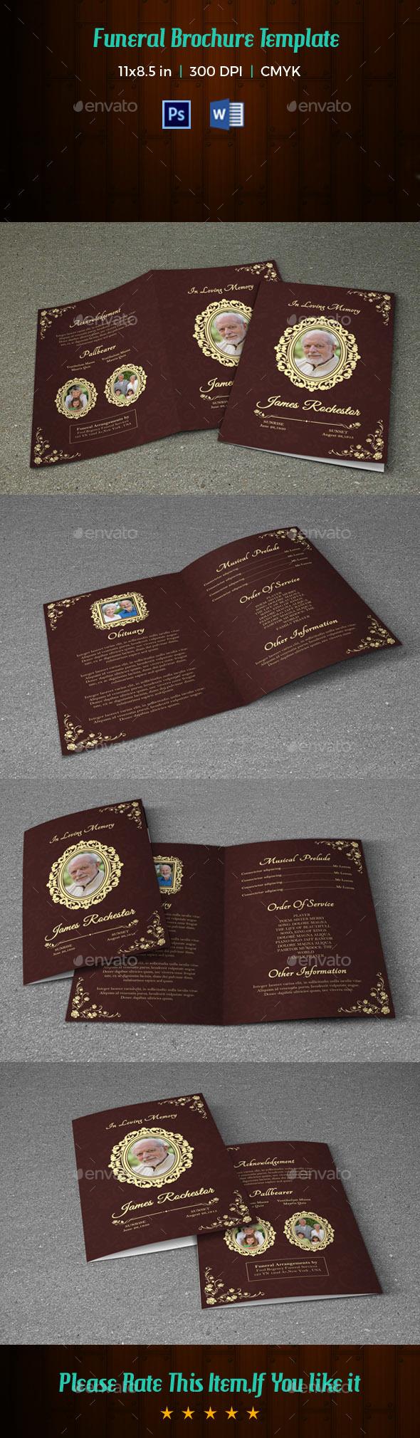 Funeral Program Template V191 - Informational Brochures