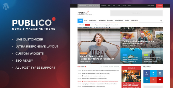 Publico - Modern Magazine WordPress Theme
