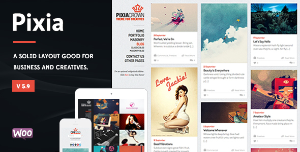 Pixia - Showcase WordPress Theme - Creative WordPress