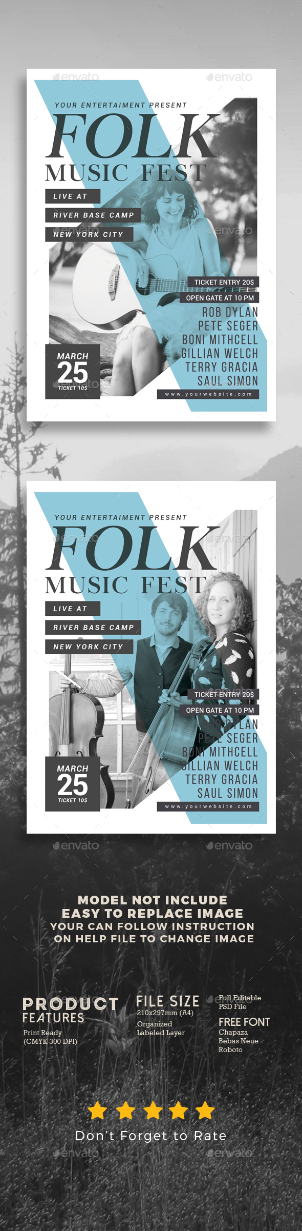 GraphicRiver Folk Music Festival 20465609