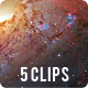 Looking into Space Nebula Galaxy - 5 clips - VideoHive Item for Sale